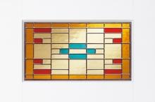 Van Kempen Houthandel - glas in lood voor binnendeur