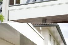 Van Kempen Houthandel BV - Keralit dakrandpanelen, boven: met klassiek profiel, onder: strak